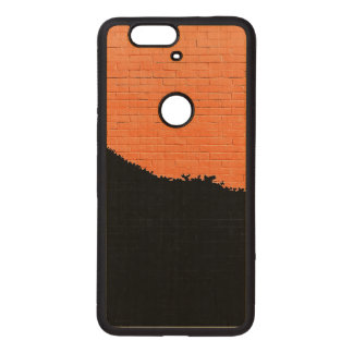 Painted Brick Wall Wood Nexus 6P Case