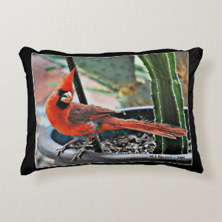 Painted Cardinal Brushed Poly Accent Pillow