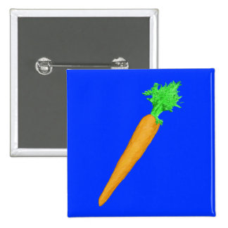 Painted Carrot Pinback Button