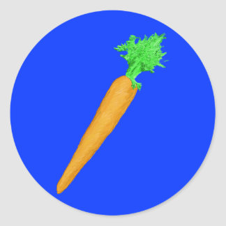 Painted Carrot Round Sticker
