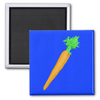 Painted Carrot Square Magnet