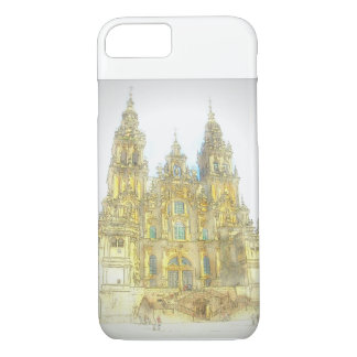 Painted Cathedral in Santiago, Spain iPhone 7 Case