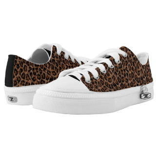 Painted Cheetah Print Zip Shoes Printed Shoes