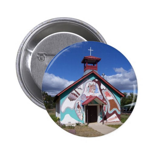 Painted Church button
