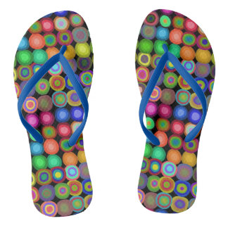 Painted Circles | Colorful Thongs