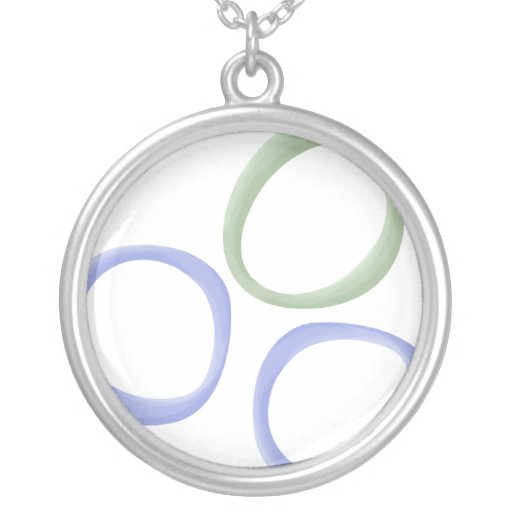 Painted Circles lavender Necklace