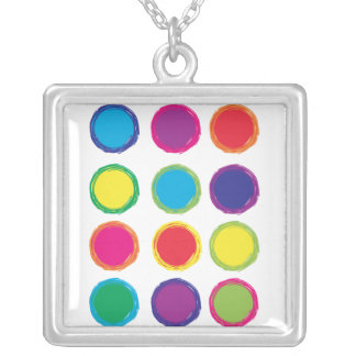 Painted Circles Custom Necklace