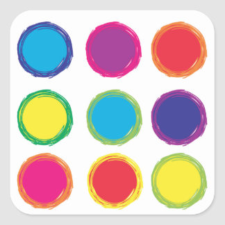 Painted Circles Sticker