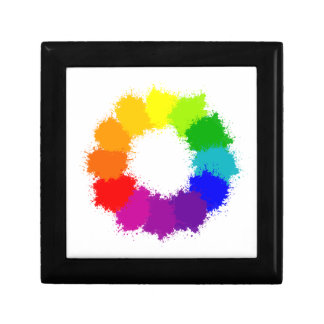 Painted Color Wheel Artist and Art Teacher Gift Box