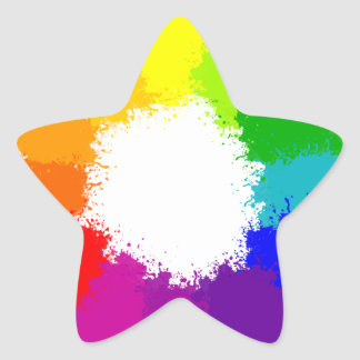 Painted Color Wheel Artist and Art Teacher Star Sticker