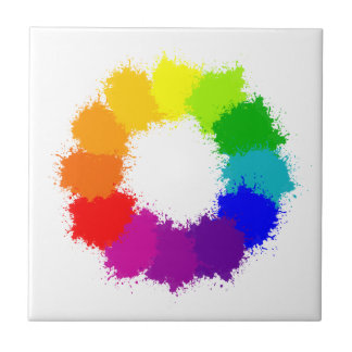 Painted Color Wheel Artist and Art Teacher Tile