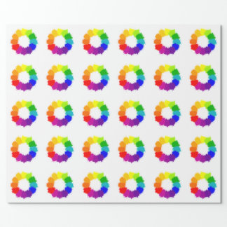 Painted Color Wheel Artist and Art Teacher Wrapping Paper