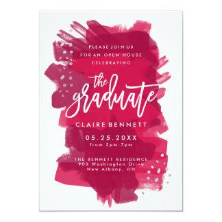 Painted Crimson Graduate Photo Graduation Invite