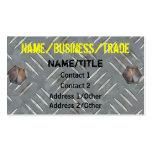 Painted Diamond Plate Business Card