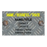 Painted Diamond Plate Business Card
