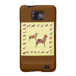 Painted DOGS Gifts Pet KIDS Festival Xmas Diwali Samsung Galaxy SII Cover