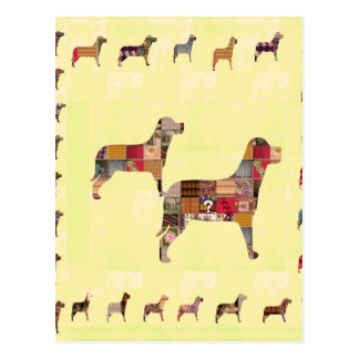 Painted DOGS Gifts Pet KIDS Festival Xmas Diwali Post Card