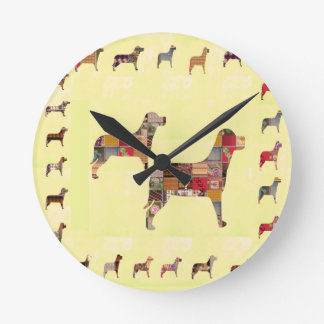 Painted DOGS Gifts Pet KIDS Festival Xmas Diwali Round Clock