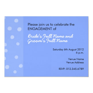 Painted Dots blue Engagement Invitation