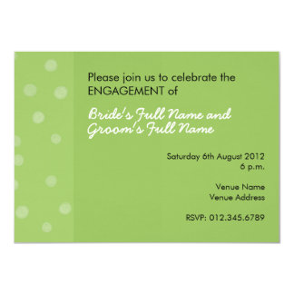 Painted Dots green Engagement Invitation