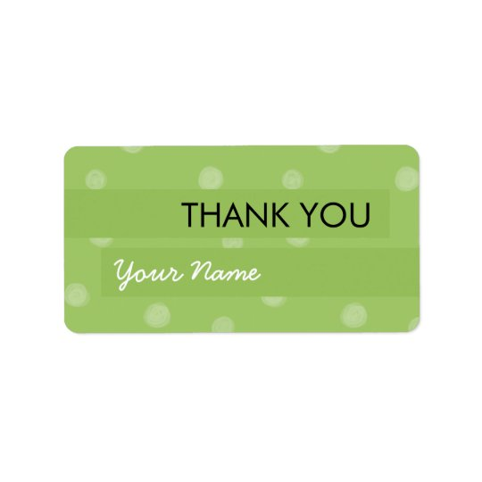 Painted Dots green Thank You Sticker