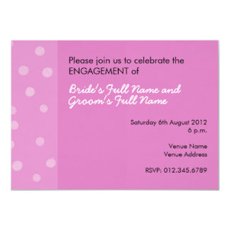 Painted Dots pink Engagement Invitation