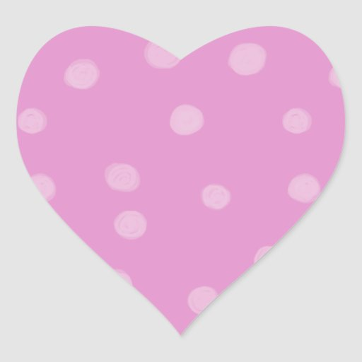 Painted Dots pink Heart Sticker