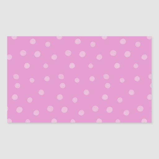 Painted Dots pink Rectangle Sticker