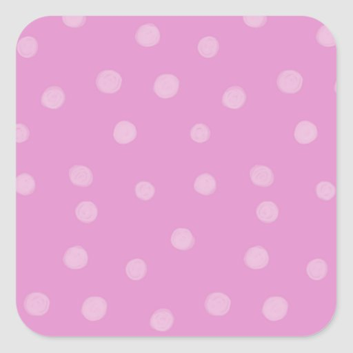 Painted Dots pink Square Sticker