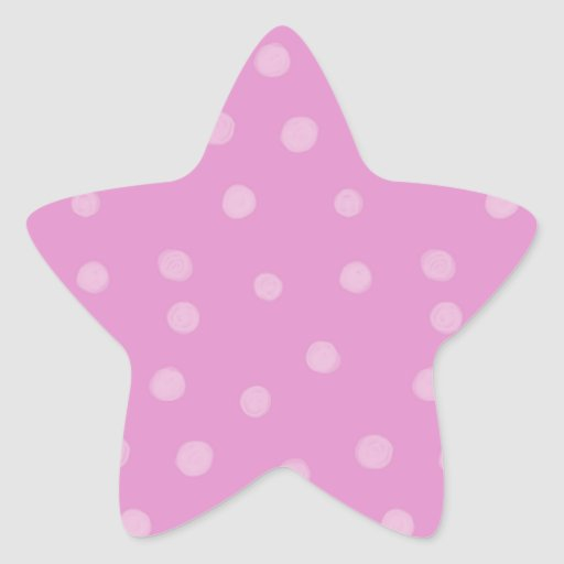 Painted Dots pink Star Sticker