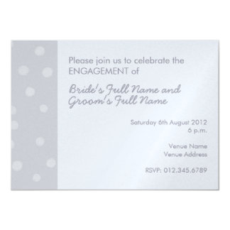 Painted Dots silvery gray Engagement Invitation