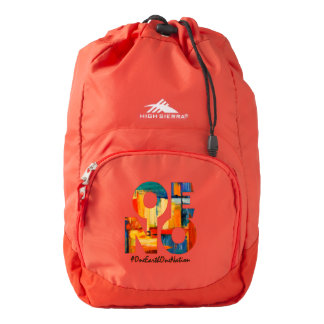 Painted Drawstring Backpack