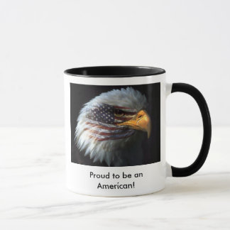 Painted Eagle, Proud to be an American! coffee mug