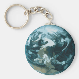 Painted Earth Key Ring