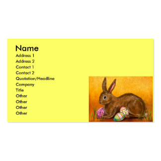 painted easter bunny business cards