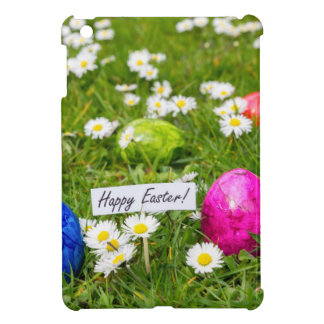 Painted Easter eggs in grass with white daisies iPad Mini Cases
