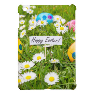 Painted Easter eggs in grass with white daisies iPad Mini Covers