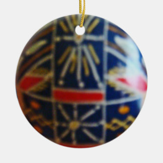 Painted Egg Rd 2 Ceramic Ornament