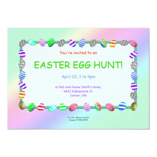 Painted Eggs Easter Egg Hunt 13 Cm X 18 Cm Invitation Card