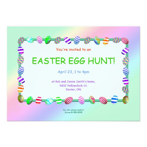 Painted Eggs Easter Egg Hunt Custom Announcements
