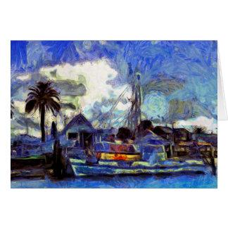 Painted Fine Art Sailing Card