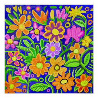 Painted Floral Composition Poster