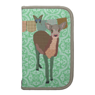Painted Floral Fawn Green Planner/  Rickshaw
