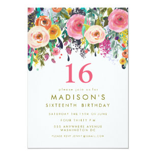 16th Birthday Invitations Announcements Zazzlecomau