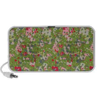 painted floral print travel speakers