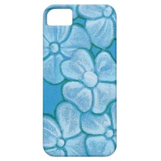 Painted Flower Blue Phone Case