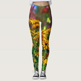 Painted flower leggins leggings