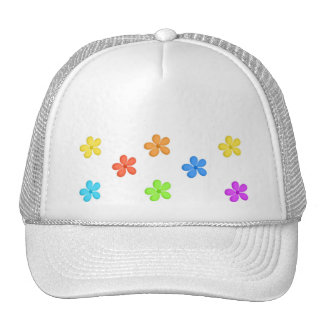Painted Flowers Hats