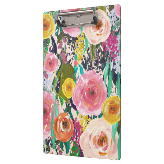 Painted Flowers Ladies Gift Clipboard