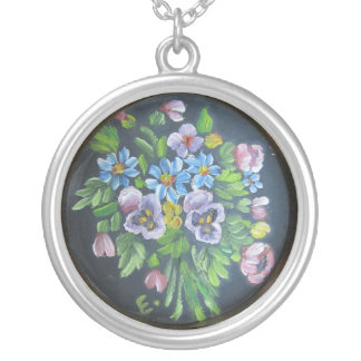 Painted flowers Necklace